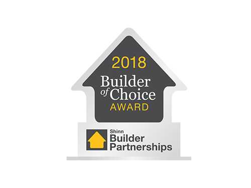 Windsong Properties Wins a 2018 Builder Partnership's Builder of Choice™ Award