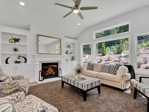 Great Room of the Bailey Homeplan at Westbrook>