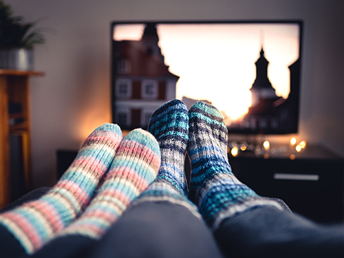 A night at the movies from home! >