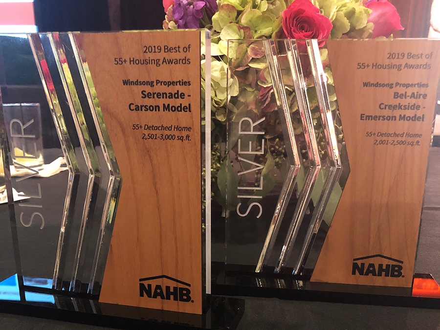 Windsong Properties Earns Two Silver NAHB  Best of 55+ Housing Awards