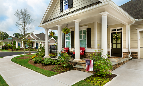 Take a stroll down our wide sidewalks to meet friends and neighbors.>