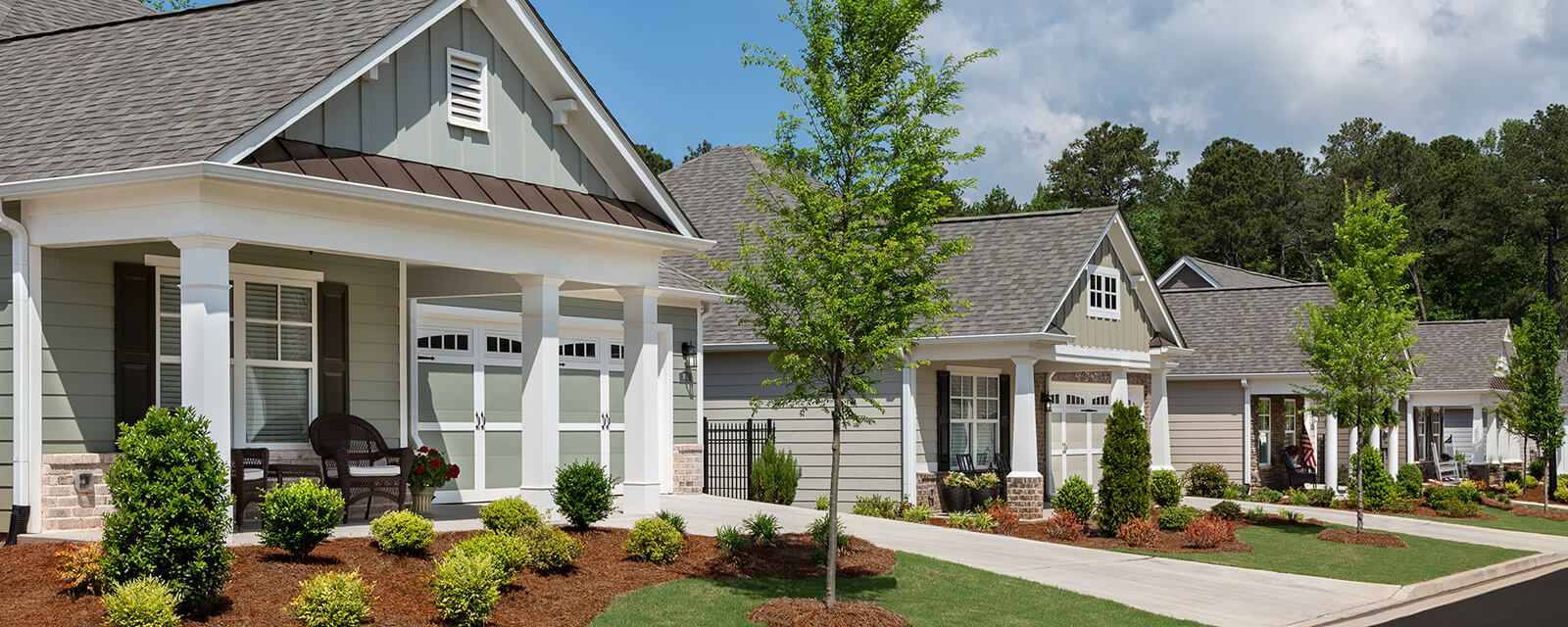 Thoughtful architecture goes into designing our many ranch style homes available in our 55+ active adult communities located throughout Georgia, including Cherokee, Cobb and Paulding counties.