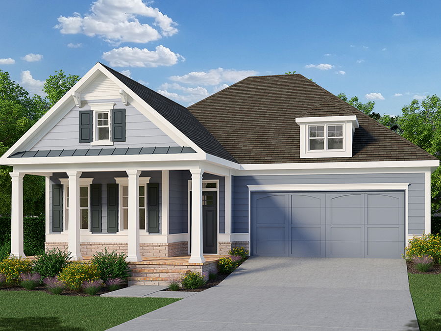 Front elevation of the Buckley available home at Marlowe in Woodstock.