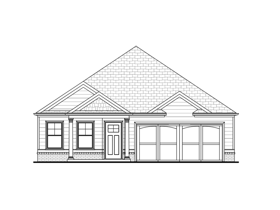 Front elevation of the Kelly available home at Echols Farm in Hiram.