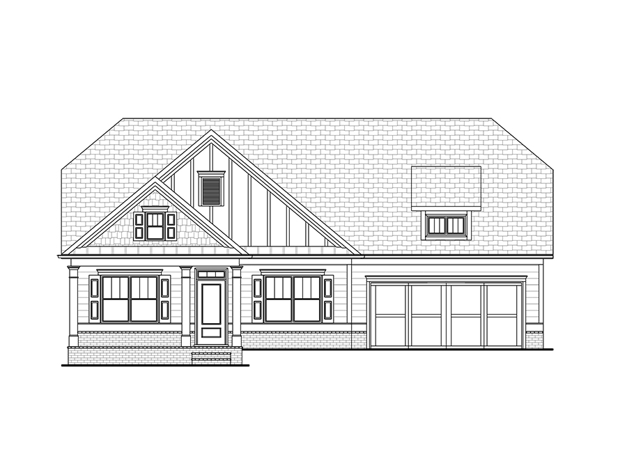 Encore New Ranch Home Plan in Kennesaw GA   The Emerson