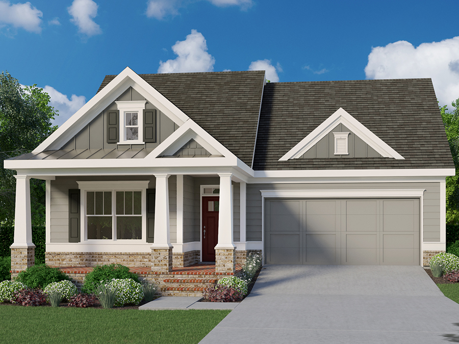 Front elevation of the Gibson RP homplan at Marlowe in Woodstock.