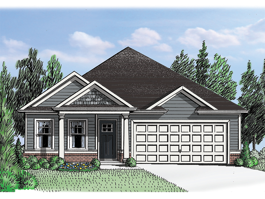 New Ranch House Plans In Acworth Ga The Kelly Grace