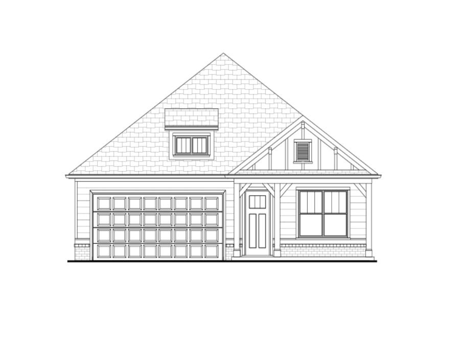 The Kelly D elevation for the inventory home on lot 20 at Grace in Acworth