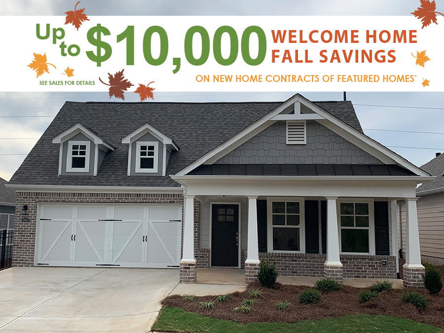 Harrison elevation of the available home at McConnell Green in Powder Springs.