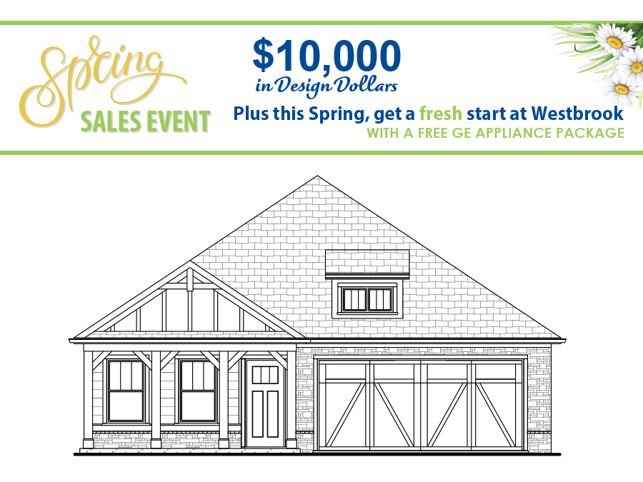 Front elevation of the Bailey available home at Westbrook in Acworth