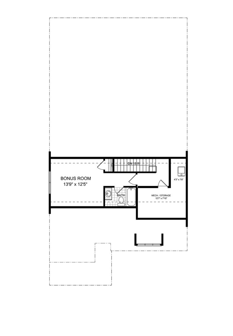 Second floorplan of the Ashton available home at Westbrook in Acworth