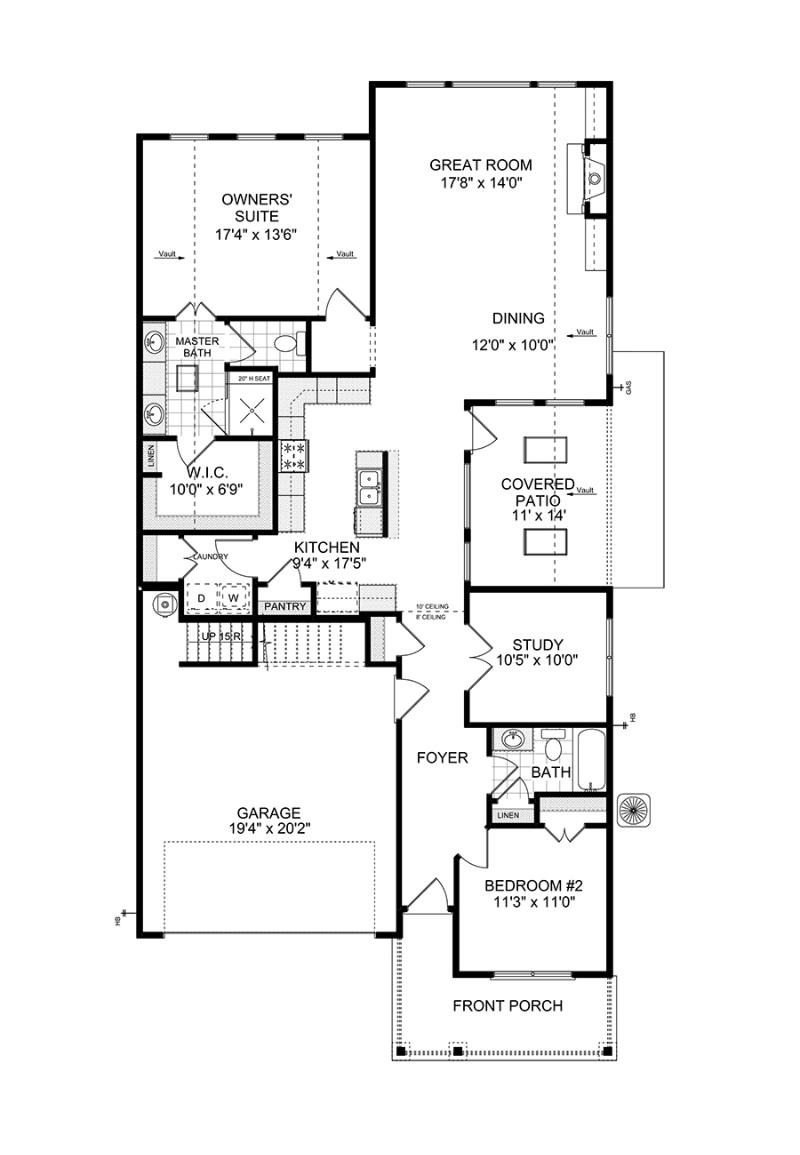 First floorplan of the Bailey available home at Westbrook in Acworth