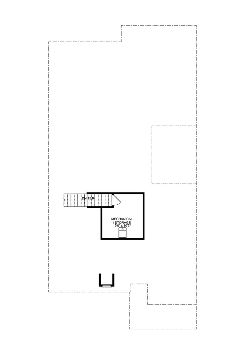 Attic floorplan of the Bailey available home at Westbrook in Acworth