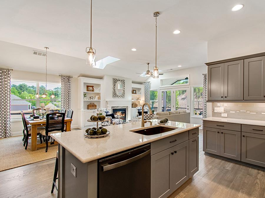 The Ashton at Westbrook features an open floorplan with gourmet island kitchen.