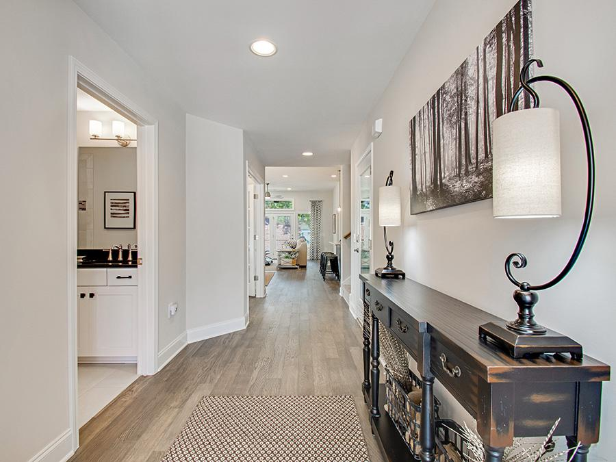 Wide hallways and doorways allow easy accessibility for years.