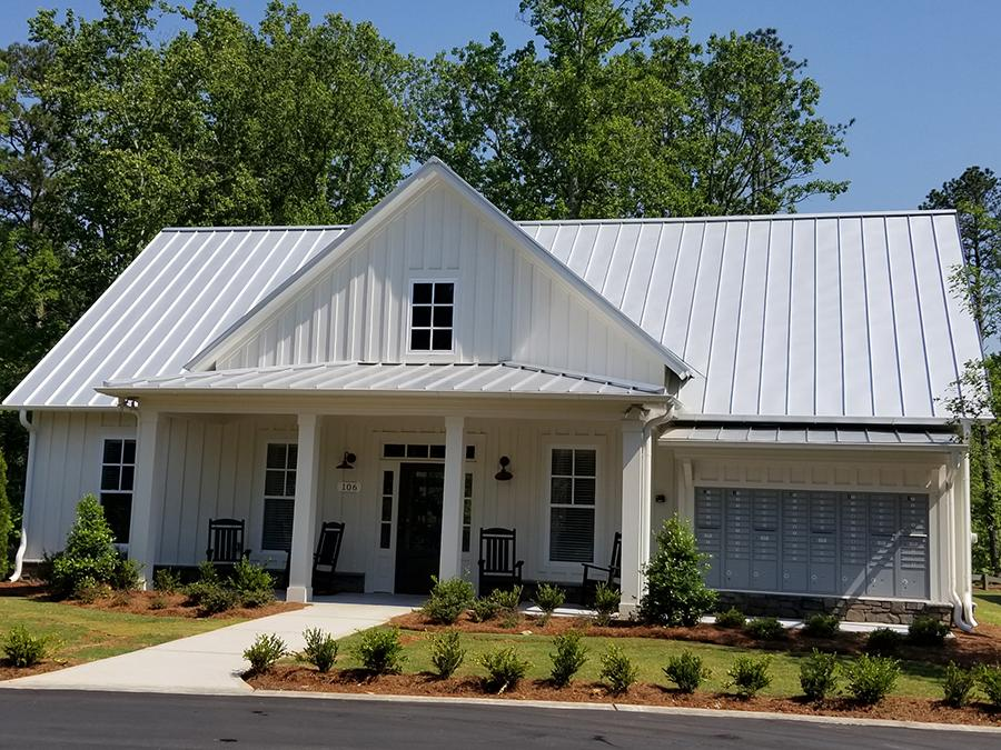 Our clubhouse at the Grace active adult community in Acworth, GA features a stunning farmhouse design.