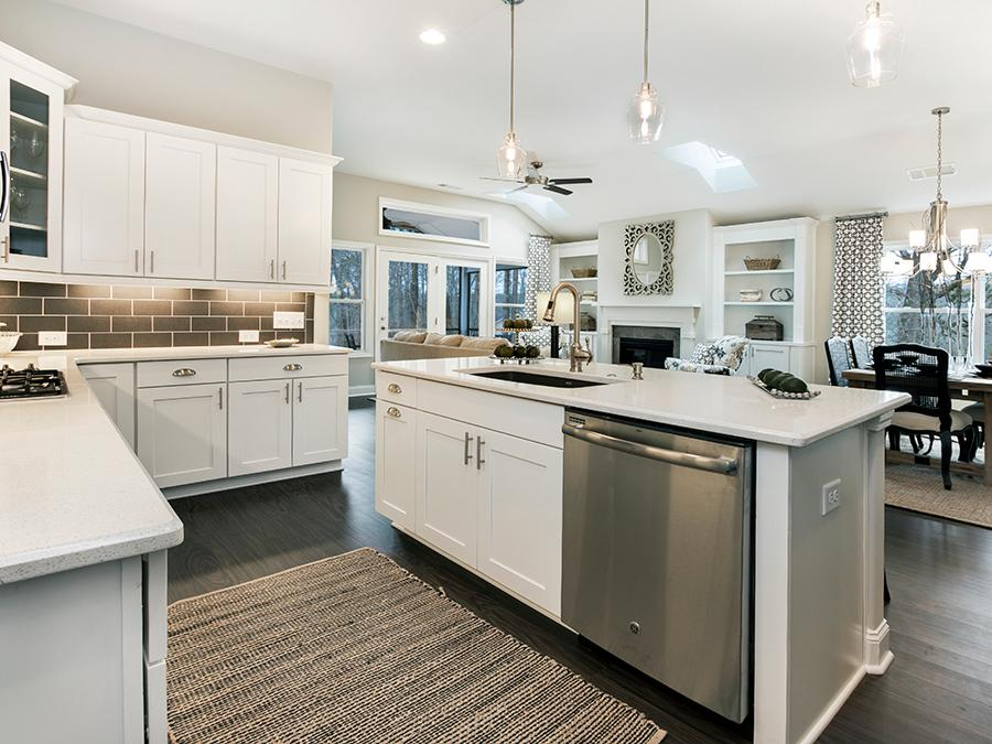 The open home floor plan designs at our Grace active adult community in Acworth, GA allow the kitchen to be the entertaining hub.
