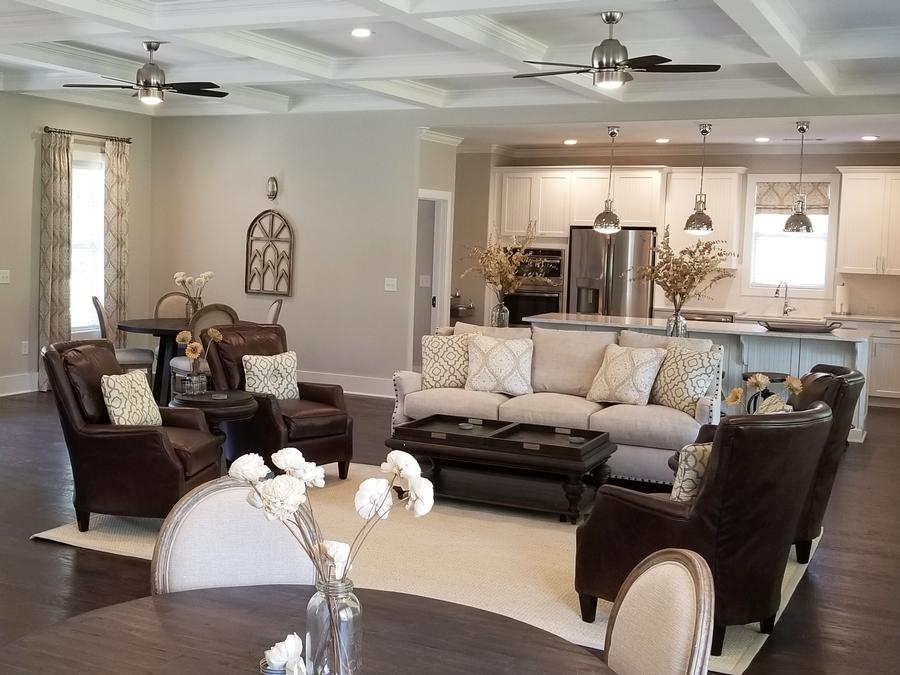 Our beautiful clubhouse at the Grace 55+ active adult community in Acworth, GA is perfect for a gathering with and entertaining friends.