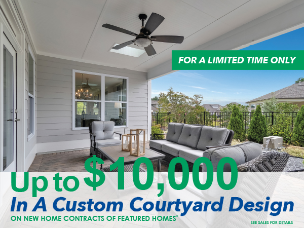 Up to $10,000 in a Custom Courtyard Design